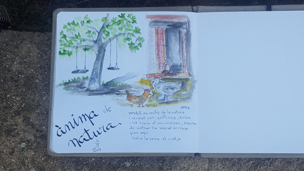 Anima de Natura, Urban Sketchers, dibujo, dibujar, artista, naturaleza, gallinas