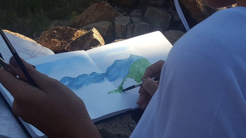 Anima de natura, urban sketchers Girona, artista, dibujo, dibujar